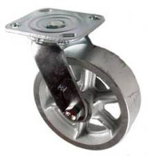 "6"" x 2"" Cast Iron Swivel Caster - 900 lbs Capacity"