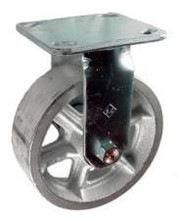 "6"" x 2"" Cast Iron Rigid Caster - 900 lbs Capacity"