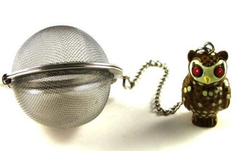 Mesh Ball Tea Infuser - 2 inches - Owl Design