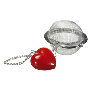 Mesh Ball Tea Infuser - 2 inches - Heart Design