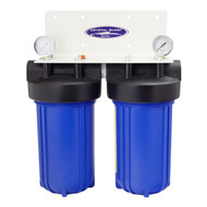 "Crystal Quest City Or Well Water - Compact Heacy Dutiy Home/Office Water Filtration 10"" x 5"" 80K Gallons"