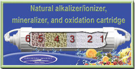 Natural alkalizer/ionizer, mineralizer, and oxidation cartridge is effective and affordable. It turns water into a perfect Natural Alkali Calcium Ionized Water.