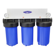 "CQ Whole House/Condo Small Space Compact 8 Stage Water Filtration System (City or Well Water) 10 x 5"" Cartridges, 80K Gallon Capacity"