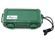 Cigar Caddy Green 5 Stick Travel Cigar Humidor