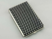 Black and Silver Checkered Cigarette Case