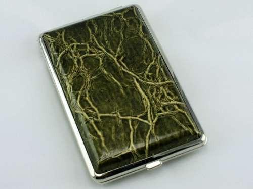 Green Marble Cigarette Case
