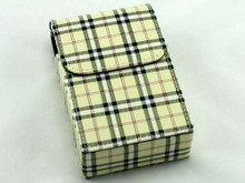 Tan Plaid Cigarette Pack Holder