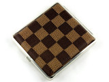 Checker Brown Cigarette Case
