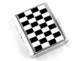 Black White Checkered Cigarette Case