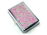 Pink Zebra Stone 100 Cigarette Case