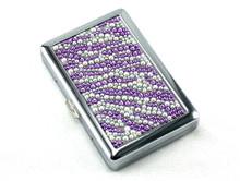 Purple Zebra Stone 100 Cigarette Case