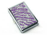 Purple Zebra Stone 100 Cigarette Case