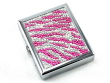 Magenta Zebra Stone Cigarette Case
