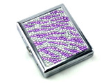 Purple Zebra Stone Cigarette Case