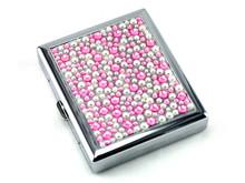 Pink Rain Stone Cigarette Case