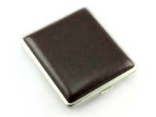 Lucienne Dark Brown Leather Cigarette Case