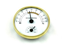 Brighton Analog Cigar Hygrometer with Thermometer