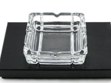 Square Glass Heavy Duty Cigarette Ashtray