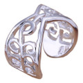Leafy 925 Sterling Silver Adjustable Thumb Ring