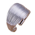 925 Sterling Silver Layered Wire Adjustable Thumb Ring