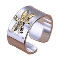 925 Sterling Silver Adjustable Dragonfly Thumb Ring