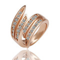 Rose-Gold Plated Feather-Tip Ring