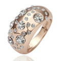 Rose-Gold Plated Cluster Fashion Ring