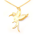 Beautiful Antique White Hummingbird Sweater Necklace for Women