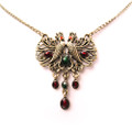 Fashion Antique Peacock Pendant Sweater Necklace for Women
