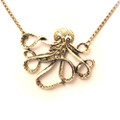 Fashion Antique Octopus Pendant Sweater Necklace