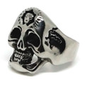 Cracked Skull Stainless Steel Ring
