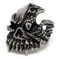Mutated Fanged Skull Stainless Steel Ring