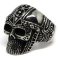 Detailed Egyptian-Style Skull, Stainless Steel Ring