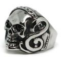 Rocker Skull Stainless Steel Ring