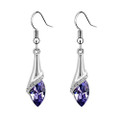 Amethyst Crystal Earring Set, Upside Down Lilly Flower Earrings