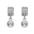 Round Crystal Earring Set, Cubic Zirconia Earrings