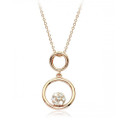 Gorgeous Round Pendant Necklace for Women with Crystal Accents - Beautiful!