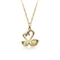 Super Sweet Double Swan Pendant Necklace for Women