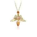 Sweet Angel Pendant Necklace for Women with Crystal Accents