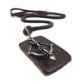 Genuine Adjustable Leather Necklace with Crossbow Pendant