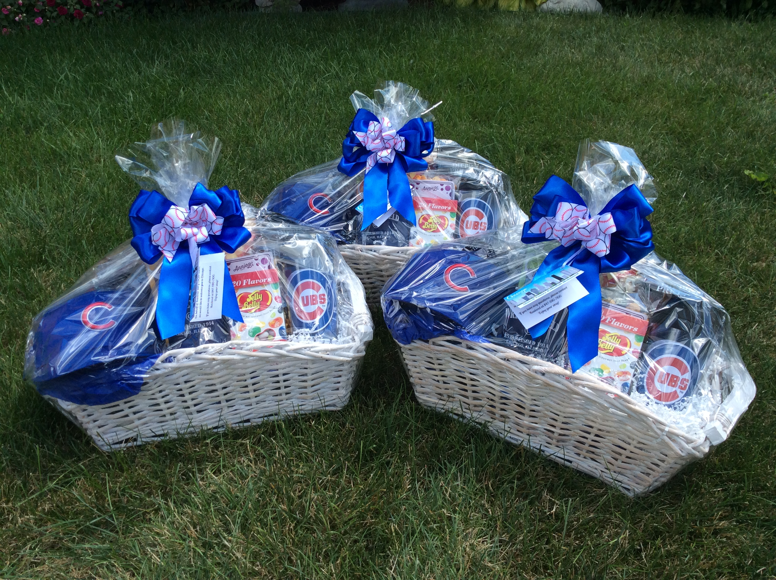 "They are appropriate for either personal occasions or corporate gift occasions. Our Chicago Cubs gift baskets are given for corporate ""Welcome to Chicago"" ..."