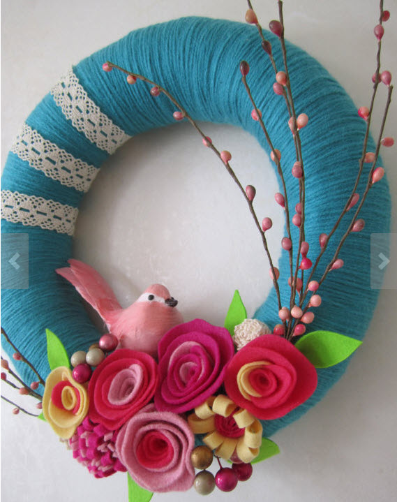 Spring wreath from Etsy
