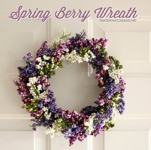 Spring wreath from thatswhatchesaid