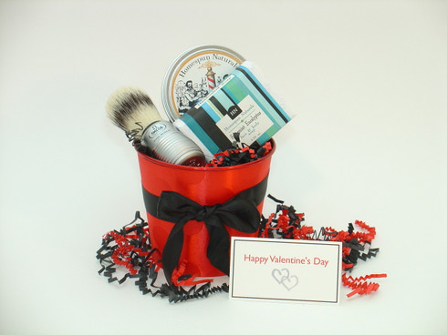 Be My Valentine Men's Shaving Set features all natural, made in America men's shave products.
