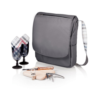 Convenient and stylish wine tote perfect for picnics, concerts, or outdoor trips.