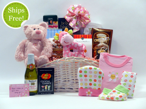 Welcome to the World Baby Gift Basket qualifies for free shipping!