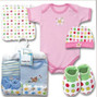 5 piece layette set for baby boy or girl