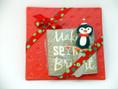 Holiday ceramic trivet gift set