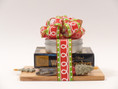 Holiday cheese gift set makes a beautiful and festive hostess gift.