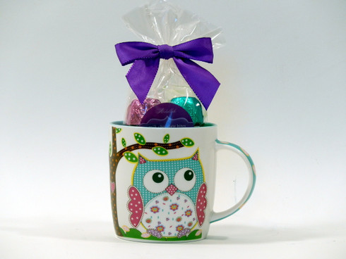 Owl Always Be Grateful mug and chocolates